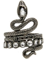 Loree Rodkin - Double Coiled Snake Ring - Lyst