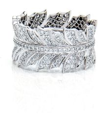 Stephen Webster - Pheasant Feather Band Diamond Ring - Lyst