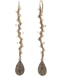 Dana Kellin - Pearl And Diamond Pave Long Vine Earrings - Lyst