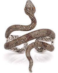 Wendy Yue - Diamond Snake Cuff - Lyst