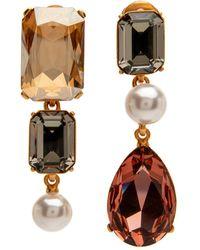 Oscar de la Renta - Bold Crystal Earring - Lyst