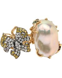 Wendy Yue - Butterfly Pearl Ring - Lyst