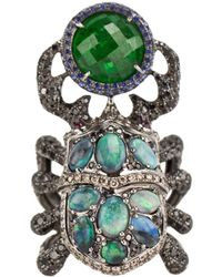 Wendy Yue | Opal And Diamond Beetle Ring | Lyst
