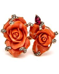 Wendy Yue - Coral Rose Ring - Lyst
