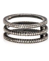 Yossi Harari - Lilah Triple Band Rose Cut Diamond Ring - Lyst