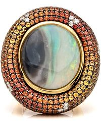 Wendy Yue - Opal And Sapphire Ring - Lyst
