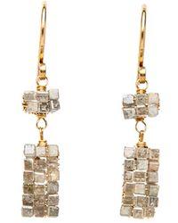 Dana Kellin - Grey Diamond Drop Earrings - Lyst