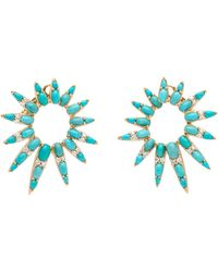 Nikos Koulis - Turquoise And Diamond Starburst Earrings - Lyst