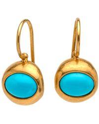 Darlene De Sedle | Oval Turquoise Earrings | Lyst