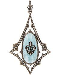 Loree Rodkin | Aquamarine And Diamond Kite Pendant | Lyst