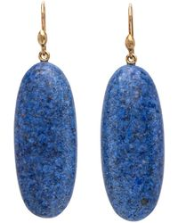 Ted Muehling - Handcut Palm Stone Drop Earrings - Lyst