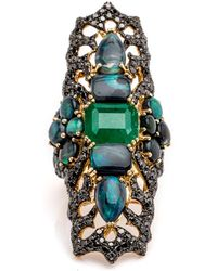 Wendy Yue - Emerald And Topaz Statement Ring - Lyst