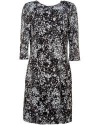 61be07a860 Naeem Khan - Black And White Lace Splatter Dress - Lyst