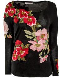 Naeem Khan - Floral Embellished Sweater - Lyst
