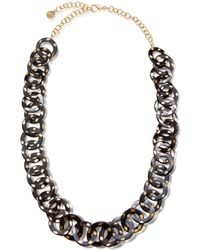 Nest - Spotted Horn Circle Link Chain Necklace - Lyst