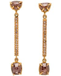 Yossi Harari - Champagne Diamond Stick Earrings - Lyst