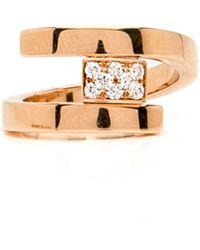 Mattia Cielo - Sole Double Band Diamond Ring - Lyst