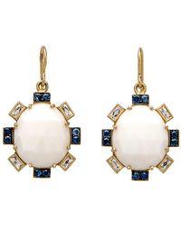 Sylva & Cie - White Opal Petal Earrings - Lyst