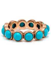 Sylva & Cie - Rose Gold Turquoise Band Ring - Lyst