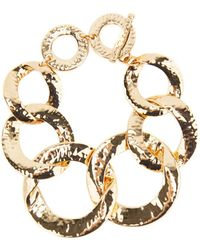 Nest - Hammered Gold-plated Chain Link Bracelet - Lyst