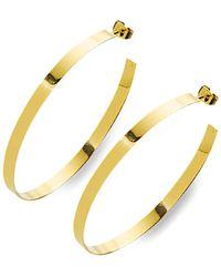 Nest - Thin Gold High Polish Hoop Earrings - Lyst