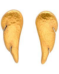 Yossi Harari - Gold Feather Earrings - Lyst