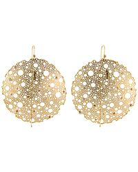 Ted Muehling - Gold Lace Earrings - Lyst