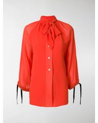 Eudon Choi - Tie-neck Floaty Blouse - Lyst