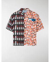 Prada - Contrast Pattern Shirt - Lyst