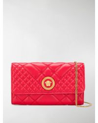 Versace - Quilted Chain Wallet Bag - Lyst