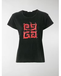 Givenchy - 4g Flame T Shirt - Lyst