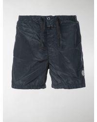 Stone Island - Shorts mit Logo - Lyst