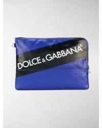 Dolce & Gabbana - Clutch Con Logo - Lyst