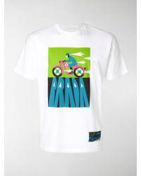 Prada | Motorbike Print T-shirt | Lyst