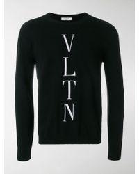 Valentino - Maglia Con Logo Vltn - Lyst