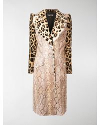 Tom Ford Animal Print Coat