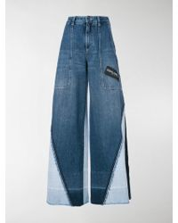 Dolce & Gabbana - Panelled Wide Leg Jeans - Lyst