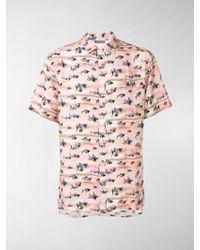Lanvin - Camicia con stampa squali - Lyst