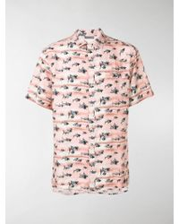 Lanvin - Hemd mit Hai-Print - Lyst