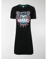 KENZO - Tiger Print T-shirt Dress - Lyst