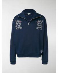 ec4204560 KENZO Dragon Print Logo Sweater in Gray for Men - Save 48% - Lyst