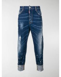 DSquared² - 80's Cropped Jeans - Lyst