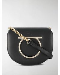 Ferragamo - Gancini Ornament Shoulder Bag - Lyst
