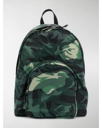 bd2f52ef68d5 Lyst - Burberry Camouflage Print Lightweight Backpack in Green for Men