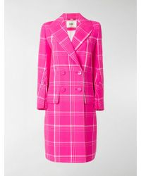 Fendi - Checked Tailored Coat - Lyst