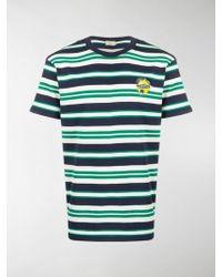 Maison Kitsuné - Gestreiftes T-Shirt - Lyst