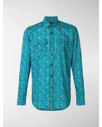 Prada - Camicia con stampa floreale - Lyst