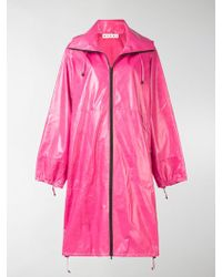 Marni - Hooded Zipped Raincoat - Lyst