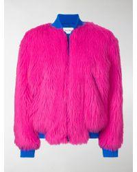 Alberta Ferretti - Cashmere And Wool Faux Fur Jacket - Lyst