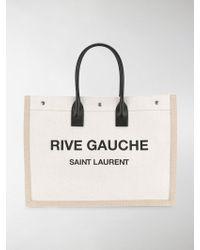 Saint Laurent | Rive Gauche Logo Tote | Lyst